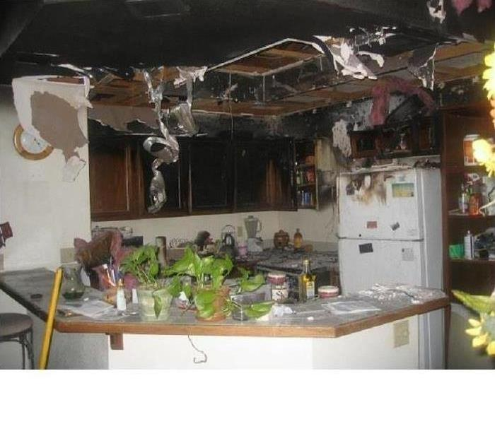 Kitchen Severely Damaged By FIre