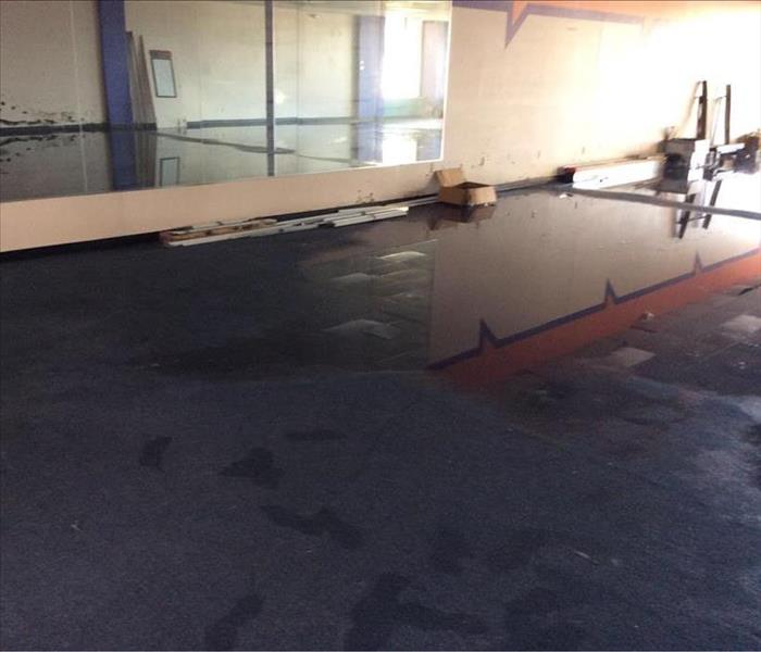 Office damaged by flood water