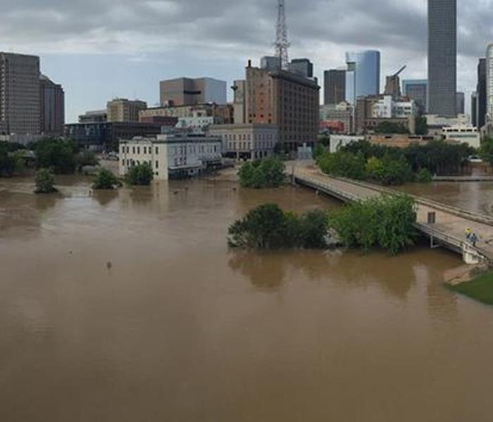 Storm Damage Flooding in Texas and Oklahoma