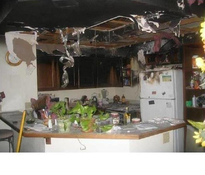 Kitchen severely damaged by fire in Prescott Valley, AZ